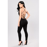 Women Aim Right Jumpsuit - Black WGTZIEU