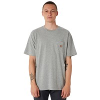 CARHARTT Pocket Mens Tee GREY Neck Line Crew  WBLCEZT