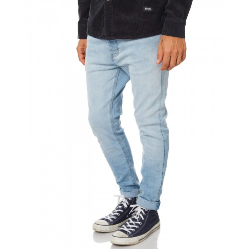 A.BRAND A Dropped Skinny Turn Up Mens Jean CONEY ISLAND Slim top that tapers to a skinny leg profile CBBGYKM