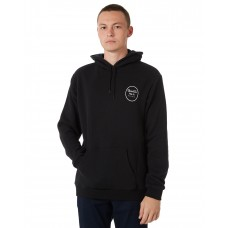 BRIXTON Wheeler Intl Mens Hood BLACK WHITE Fixed hood with tonal drawcord ROPEIOA