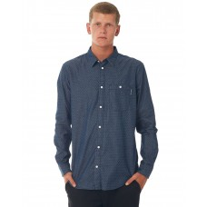 DC SHOES Mens Swalendalen 2 Ls INDIGO RINSE Button through chest GJZLPMD
