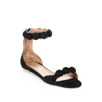 Alaïa Studded Suede Sandals Black 0400097059688 UVUMLLN