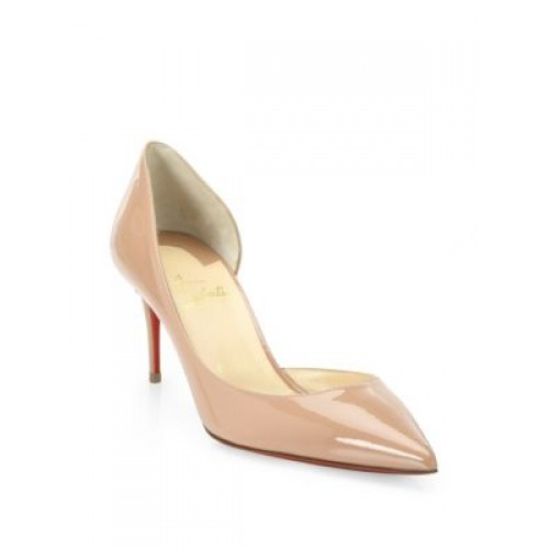 timeless design cda7d b21f5 Christian Louboutin Iriza 70 Patent Leather d'Orsay Pumps ...
